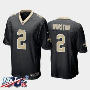 New Orleans Saints Jameis Winston Black Jersey